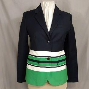 Michael Kors Preppy Blazer NWOT Navy w Clr Stripes